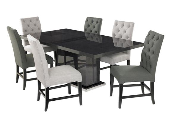 Superior Monte Carlo Dining Table U0026 6 Alfa Chairs Dove