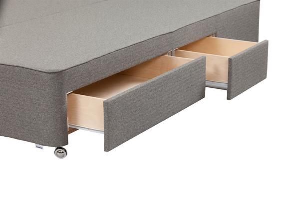 Tempur moulton double continental 4 drawer divan base for Double divan base with drawers