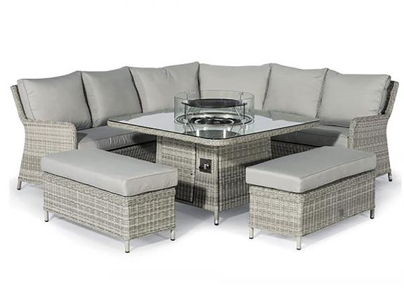 Garden Dining Sets Ocean Royal Corner, Garden Furniture With Fire Pit Table