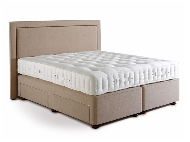 Hypnos beds the marlborough range 135cm double firm for Double divan bed with four drawers