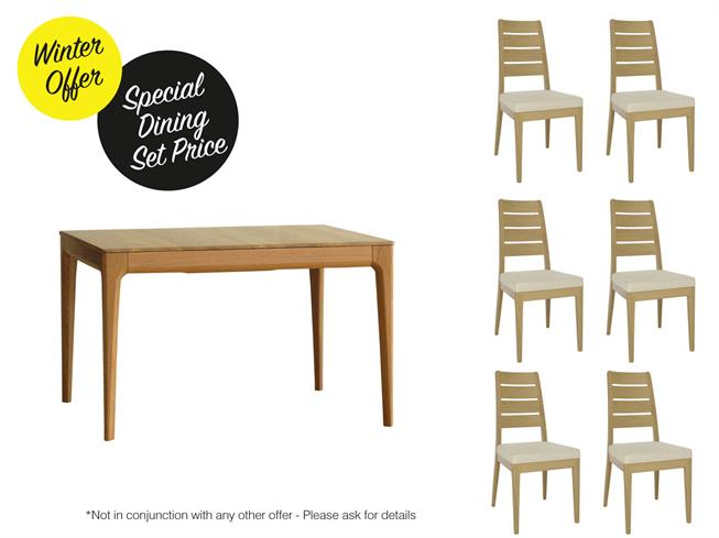 Buy Romana Small Dining Table 6 Dining Chairs Doorway To Value Chorley