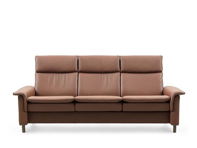 stressless by ekornes aurora high back 3 seater sofa buy at