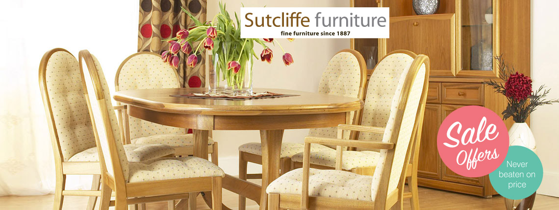 Sutcliffe Teak dining and cabinet